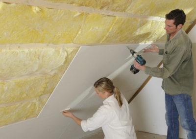 Dachgeschoss-Ausbau Deckenbeplankung Fermacell