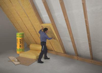 Isover Isolation Dachgeschoss-Ausbau